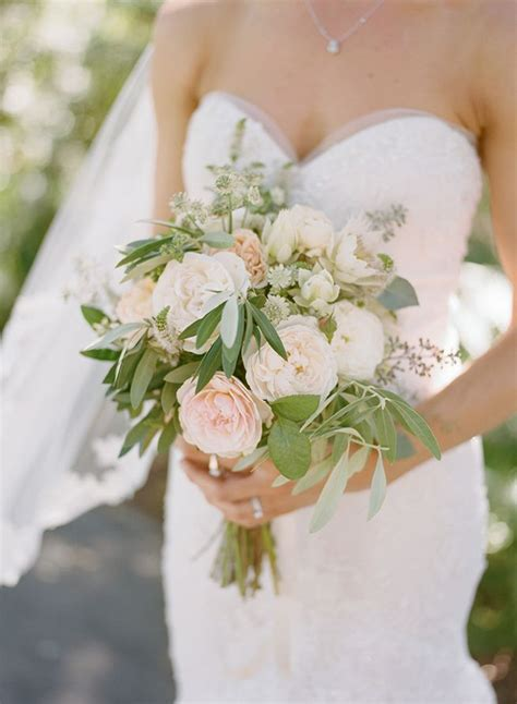 Simple Wedding Bouquets by Simple White Green And Blush Wedding Bouquet From Willi