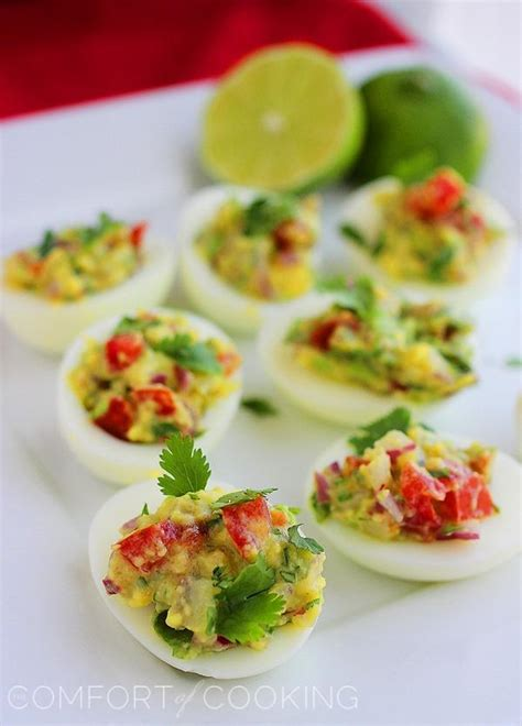 the comfort of cooking sparkly ladies guacamole deviled eggs