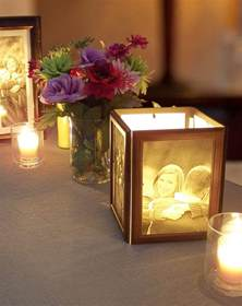 how to make cheap centerpieces how to make photo centerpieces with candles