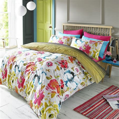 King Single Quilt by Floral Quilt Duvet Cover Pillowcase Bedding Bed Set