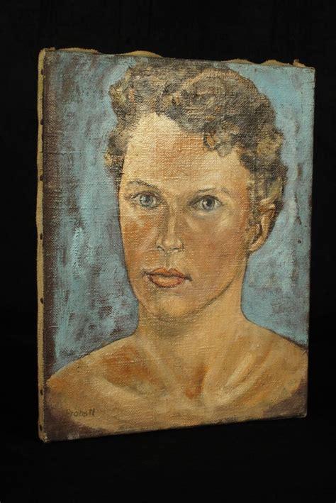 ancien tableau portrait peinture  lhuile sur toile