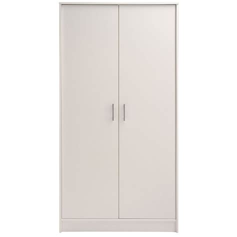 armoire penderie 2 portes quot galaxy quot blanc