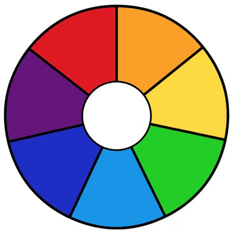 rainbow color wheel printable rainbow days of the week and color wheels