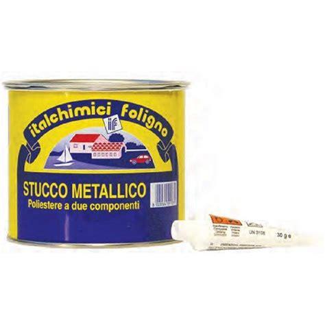 stucco carrozziere stucco metallico poliestere 500ml con catalizzatore