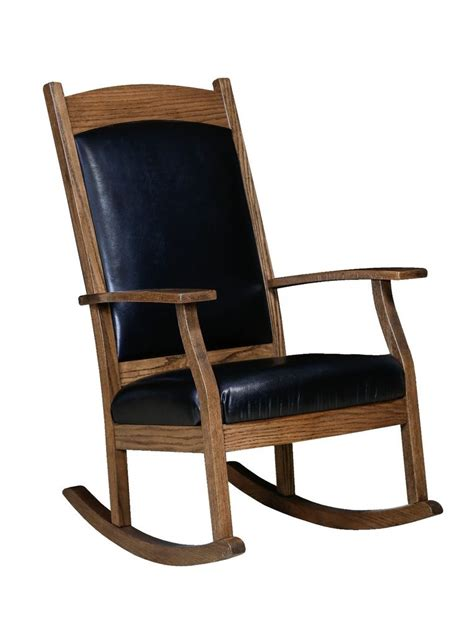 Solid Oak Rocking Chair by Amish Handcrafted Solid Wood Rocking Chair Rocker
