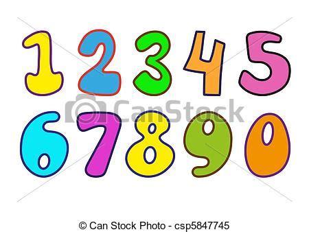 numeri clipart clipart vettoriali di numeri decorativo numeri per