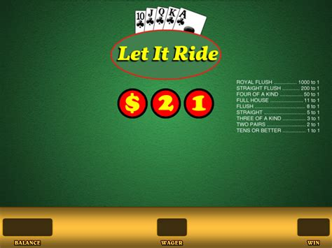 free let it ride table how to play let it ride