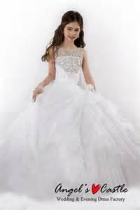 2015 white flower dress cute baby gown birthday