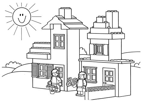 lego house coloring pages lego coloring pages for kids coloringstar