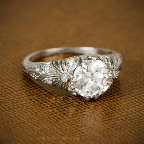 Edwardian Engagement Rings by Edwardian Engagement Ring Circa 1910