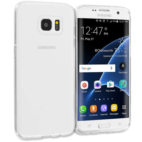 Softcase Samsung S7 Flat S7 Edge Casing Anticrack Clear Softcaseo for samsung galaxy s7 s7 edge tpu rubber transparent clear cover ebay