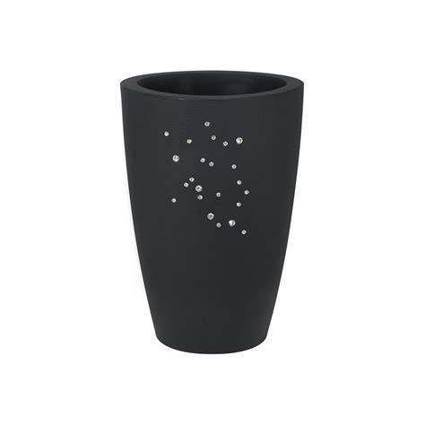 vaso di vaso di design con finitura opaca e cristalli swarovski