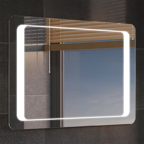 modern backlit slimline illuminated bathroom mirrors with luxury backlit slimline illuminated bathroom mirrors with