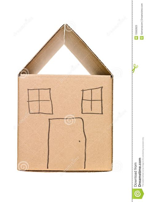 cardboard box house house made of cardboard box stock image image of packaging symbol 15562823