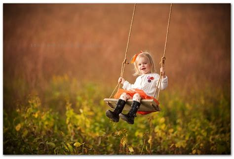 heard super swing little girl on tree swing for photos photography