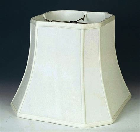 white square l shade bell l shade allen roth 125in x 17in cream fabric bell