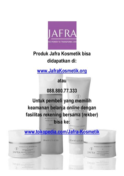 Produk Jafra Untuk Flek Hitam Katalog Produk Jafra Kosmetik 2014