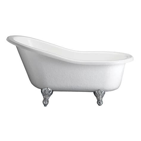 aqua 5 8 ft acrylic slipper pedestal tub with