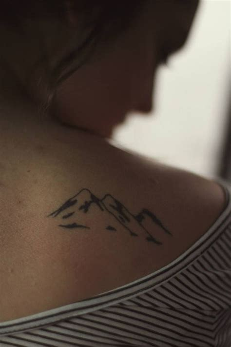 mountain silhouette tattoo 64 simple mountain tattoos collection