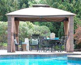 Outdoor Patio Gazebos Outdoor Woven Wicker Gazebo The Chronicles Of Home