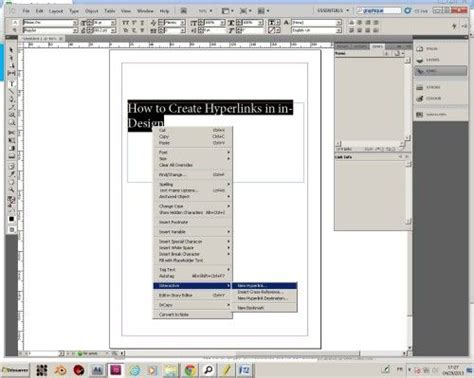 creating hyperlinks indesign how to create hyperlinks in indesign howtech