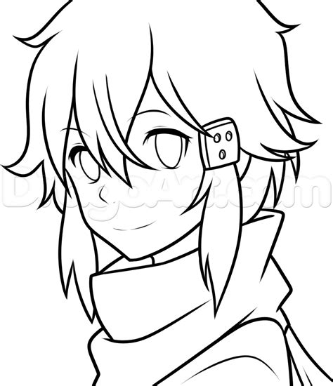 draw oline how to draw sinon from sword 2 step by step