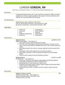 Resume Exles For Nursing Homes Registered Resume Sle Work Nursing Resume Resume Skills And Leadership