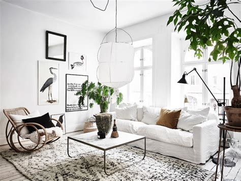 scandi living room scandinavian apartment with bohemian vibes daily dream decor