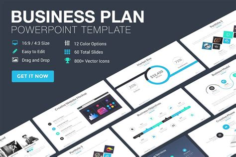 Business Plan Powerpoint Template Presentation Templates Creative Market Business Ppt Templates