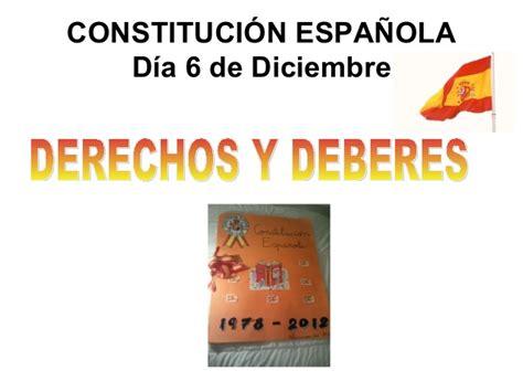 constitucin espaola 29 de constituci 243 n espa 241 ola derechos y deberes