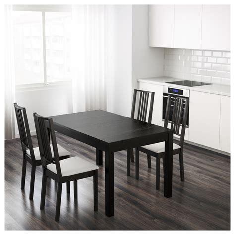 tavolo ikea bjursta bjursta extendable table brown black 140 180 220 x 84 cm