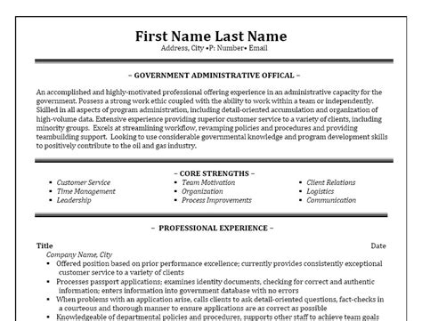 Administrative Assistant Federal Government Resume Administrative Assistant Resume Template Premium Resume