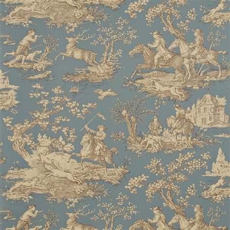 sanderson wallpaper toile stag hunting collection