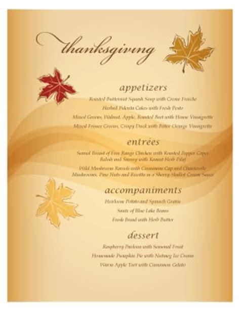 autumn breezes menu thanksgiving menus