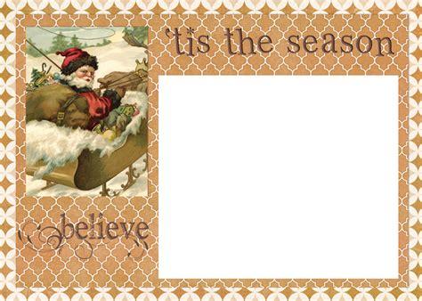 Digital Goodie Day Tis The Season Christmas Card Template Free Digital Card Templates