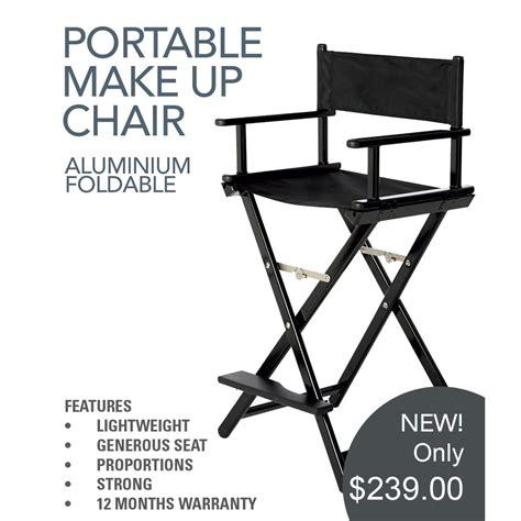 Chair Trolley Amc aqua aluminium foldable makeup chair directors