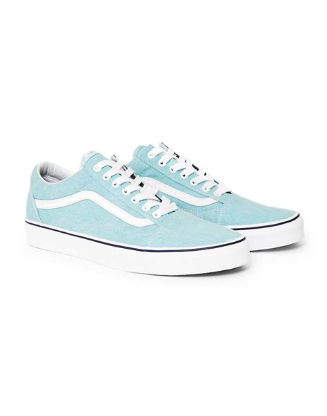 Light Blue Vans buy vans skool canvas trainers light blue incl shipping
