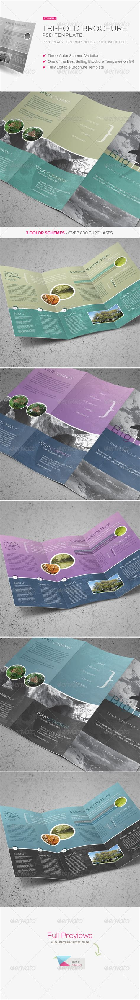tri fold brochure psd template graphicriver