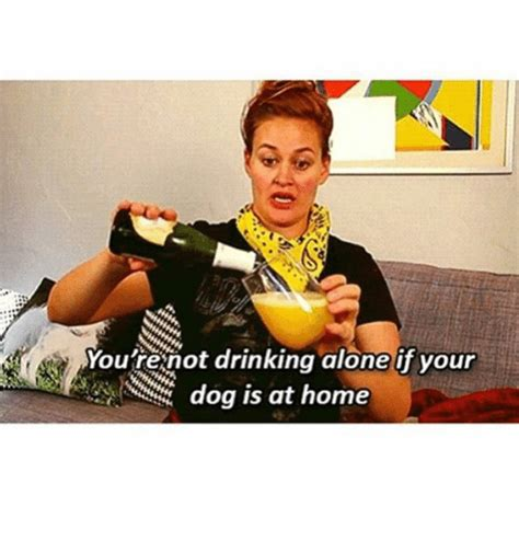 Drinking Alone Meme - you re not drinking alone if your dog is at home dogs