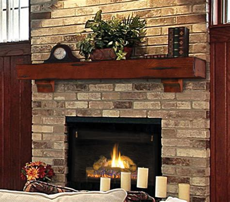 Rustic Brick Fireplace by Click Gallery