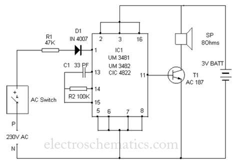 polyphonic doorbell circuit