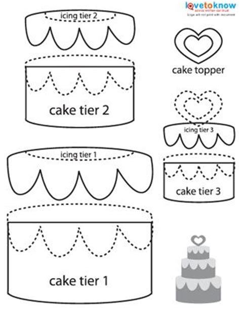How To Make A Cake Out Of Paper - free paper piecing patterns lovetoknow