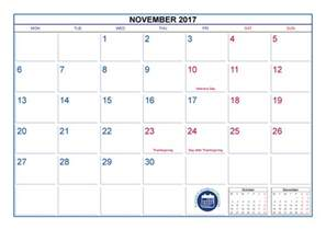 Calendar November 2017 With Holidays November 2017 Calendar With Holidays Printable Printable