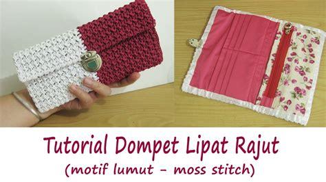 tutorial merajut dompet crochet tutorial merajut dompet lipat moss stitch