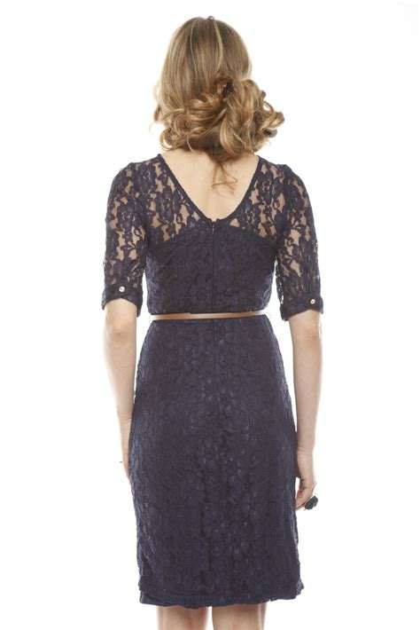 sugarhill navy lace dress with belt from nolita by