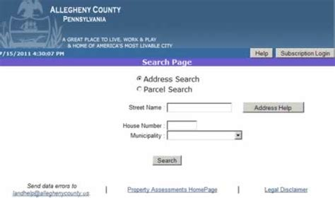 Allegheny Property Tax Records Allegheny County Property Tax Assessment Search Lookup