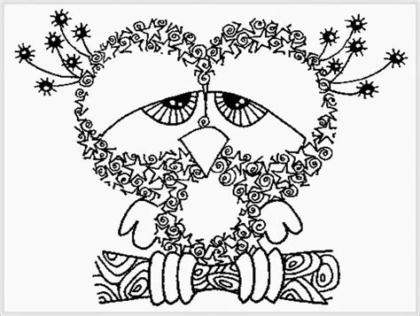 free printable coloring in pages for adults owl adult free printable coloring pages realistic
