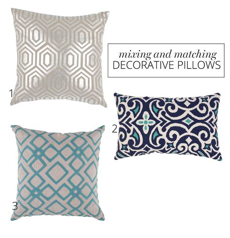 ottoman and matching pillows how to mix and match pillows a named pj