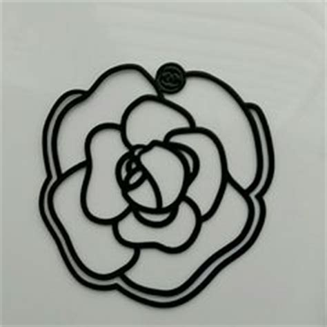 Camelia Sabrina Black New chanel camellia flower black metal brooch bookmark new 2011 brooches chanel and