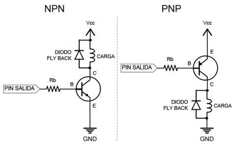 transistor bjt zonas de trabajo salidas de mayor potencia con arduino y transistor bjt